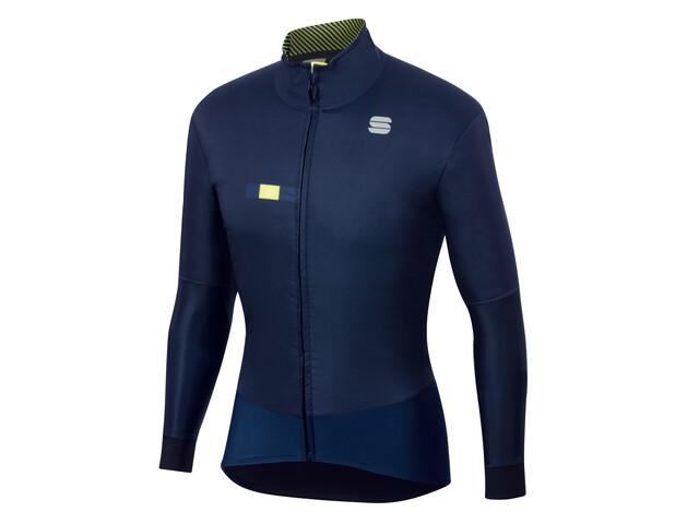 Sportful Bodyfit Pro Kurtka Mężczyźni, blue/yellow fluo